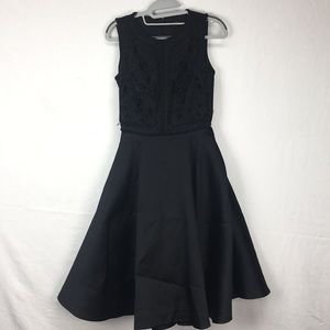 Ted Baker Black Sopia Embroidered Bodice Dress